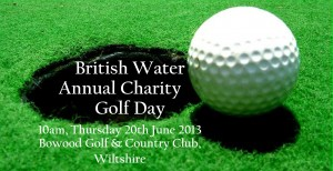 British Water Charity Golf Day, 20th June 2013.