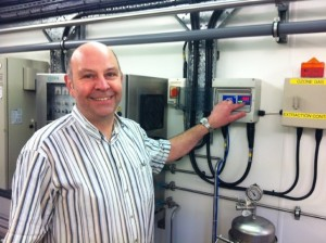 David Denham, Plant Engineer at Swallowfield Plc, with the new ATi F12 gas transmitter.